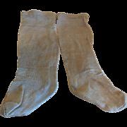 "6"" Silky  Pale Green Fashion Stockings"