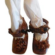 """1 7/8"""" Keystone French Shoes for Antique Dolls"""