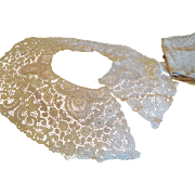 """27"""" Long Ornate Lace Collar Off White 6 1/2"""" Wide  Doll Costuming"""