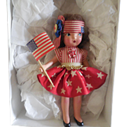 """6"""" Painted Bisque from 1940""""s Redressed in Patriotic Attire"""