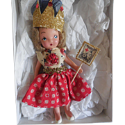"""6"""" Blonde Painted Bisque from 1940""""s Redressed in Patriotic Attire"""