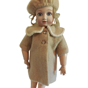 """Wool Winter Coat and Beret for 15-16"""" Doll"""