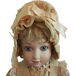 Silk and Lace Bonnet for Antique Doll