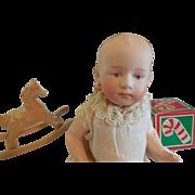 "7 1/2"" Heubach 7603 Baby Compo Body Original Gown"