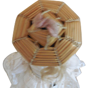 Tiny Bourrelet Bonnet for a Small All Bisque or Other Small Doll