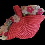 Vintage Flower Basket Purse