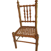 """12"""" Faux Bamboo Chair for Antique Dolls"""