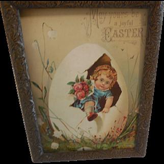 Metal Framed Easter Card Doll Size