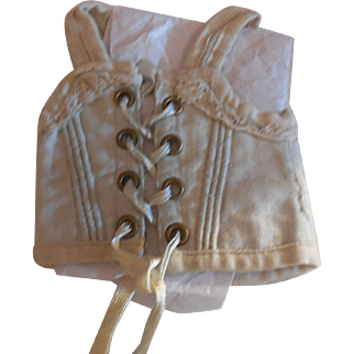 Small Pale Blue Corset for Antique Doll