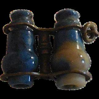 Rare Tiny Dark Blue Opera Glasses