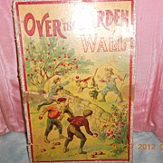 "Antique Milton Bradley Game ""Over the Wall"" in the Box"