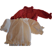 2 Doll Blouses for Small dolls