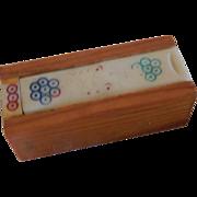 Tiny Domino Set in Wood Box