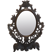 Metal Doll Size Tilt Oval Mirror