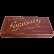 "Vintage Card Game ""LOGOMACHY"" from Milton Bradley"