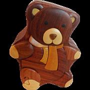 Wooden Teddy Bear Box