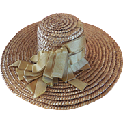 Antique Straw Hat for Bebe or Large Fashion.