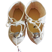 White Cloth Shoes for French or German Bebe