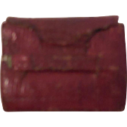 Very Tiny Red Leather Covered Prayer Book