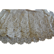 "60"" Cotton Lace 4"" Wide  for Doll Clothes  French German"