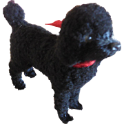 "3 1/2"" Black Poodle for French Fashion or Small Bebe"
