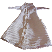 Cotton Pique Morning Gown for Small French Fashion or China Doll