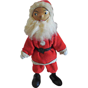 Vintage Jointed Wood Santa
