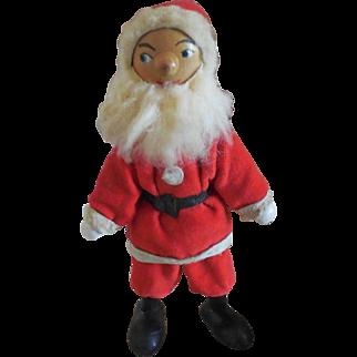 Vintage Jointed Wood Santa