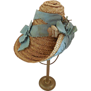 Stylish French Fashion Straw Hat or for Smaller Bebe