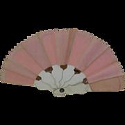 Pink Fabric and Cardboard Fan