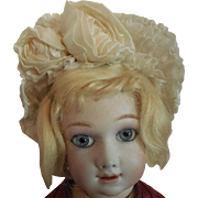 """Gathered Silk Hat for 16"""" or Larger French Bebe"""