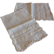"""2 Doll Size Pillow Cases  6 1/2"""" x 4"""""""