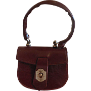 Brown Leather French Fashion Purse