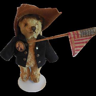 "7"" 1930's Steiff Bear Dressed a little Like Teddy Roosevelt"