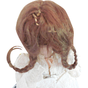 Original Small Brown Wig for Antique or German Bebe