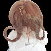 Original Small Brown Wig for Antique or German Bebe