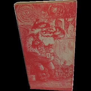Vintage Santa Cardboard Candy Container Box Thomas Nast Santa