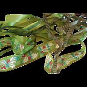 Silk Christmas Ribbon and 3 other Silk Green Ribbons