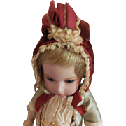 Normandy Style Bonnet for Antique Bebe Jumeau, Steiner