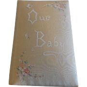 "Vintage Silk Covered Baby Book 5"" by 3 1/4"""