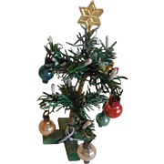"Tiny 4"" Christmas Tree for Doll House or Room Box"