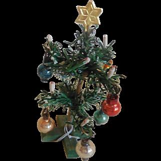 "Tiny 4"" Christmas Tree for Doll House or Room Box"