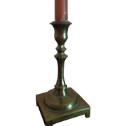 """3 1/2"""" Brass Candle Holder with Candle"""