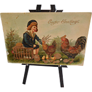 Old Easter Postcard printed in Germany