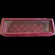 Burgundy Red Plush Display Box