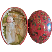 All Original Tiny Dream Baby in Large Egg with Accessories