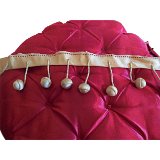 "19 Decorative Balls on 20"" Piece of Silk Doll Costuming"