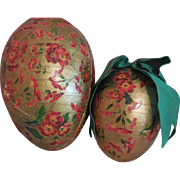 "8"" and 5"" German Eggs  Flower Design"
