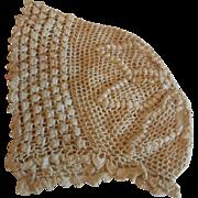 Little Crocheted Baby Bonnet