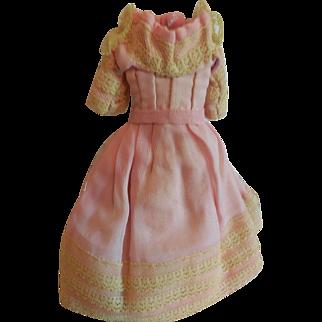"7"" Tiny Pink and Lace China doll Dress"